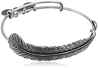 "Alex and Ani Earth Sultry ""Plume Feather"" Bangle Bracelet, 7.75"" (B003ZYF35U) 