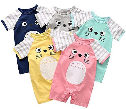 Stylesilove Adorable Unisex Baby Totoro Short Sleeve Cotton Romper (59/3-6 Months, Green)