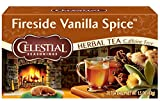 Celestial Seasonings Herbal Tea, Fireside Vanilla Spice, 20 Count (Pack Of 6)