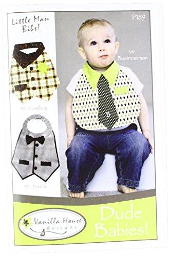 Vanilla House VHP189 Dude Babies Bibs Ptrn