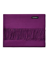 L'vow Women's Soft Cashmere Blend Scarves Pashmina Cape Shawl Wraps Stole (Purple)