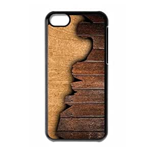 Cool Painting Wood Print Personalized Cover Case for Iphone 5C,customized phone case case-294700