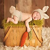ISOCUTE Newborn Baby Photography Props Infant Boy Girl Knit Rabbit Photo Outfits