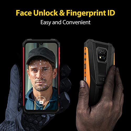 Rugged Smartphone Unlocked, Ulefone Armor 8 4GB + 64GB Android 10, 16MP Triple Waterproof Camera, IP68/IP69K Durable, 6.1 inch HD+, 4G Dual SIM, 5580mAh Battery, NFC, OTG, Fingerprint Face ID, Black