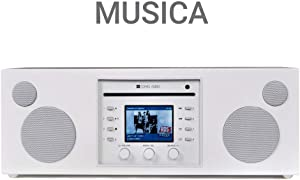 Como Audio: Musica - Wireless Music System with CD Player, Internet Radio, Spotify Connect, Wi-Fi, FM, Bluetooth and One Touch Streaming - Piano White