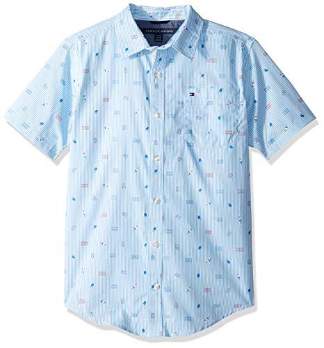 Tommy Hilfiger Big Boy's Short sleeve woven shirt Shirt, regatta, X-Large (20)