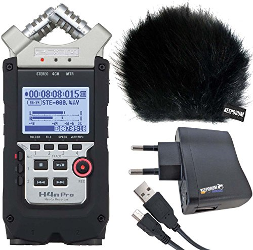 ZOOM H4n PRO Handy Recorder + KEEPDRUM Zubehör-Set