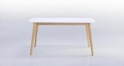 Mesa extensible blanca de 6 a 8 plazas – ALIS.: Amazon.es: Hogar
