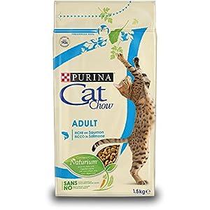 Purina Cat Chow Comida Seco para Gatos AdultosRico en Salmón – 1.5 Kg