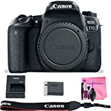 Canon EOS 77D (Body) DSLR Camera with Camera Works Premium SLR Camera Cleaning Solution