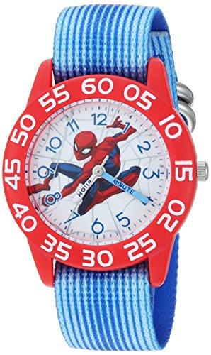 Marvel Boy's 'Spider-Man' Quartz Plastic and Nylon Casual Watch, Color:Blue (Model: WMA000181)