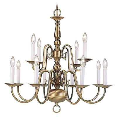 Livex Lighting 5012 12 Light 720W Chandelier with Candelabra Bulb Base from Will,