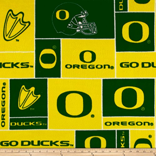 (Sykel Enterprises Collegiate Fleece University of Oregon Fabric by the Yard, Multi)