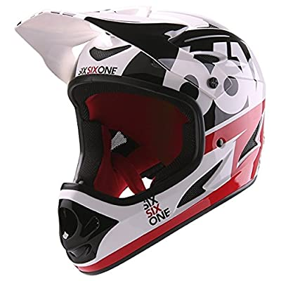 SixSixOne Comp - rouge/blanc Tour de tête 59-60cm 2018 casque de vtt