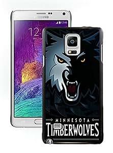 New Custom Design Cover Case For Samsung Galaxy Note 4 N910A N910T N910P N910V N910R4 Minnesota Timberwolves 5 Black Phone Case