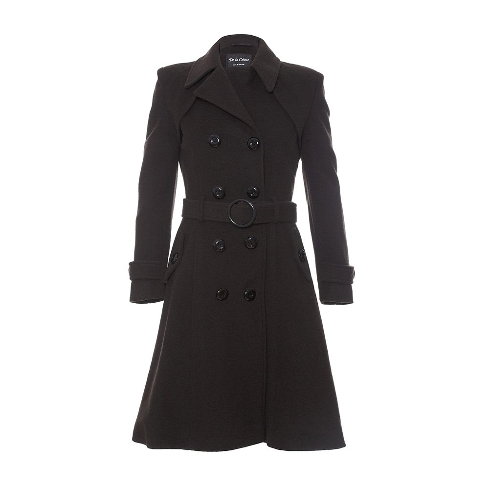 De La Creme Women`s Wool & Cashmere Winter Long Belted Coat wool-outerwear-coats