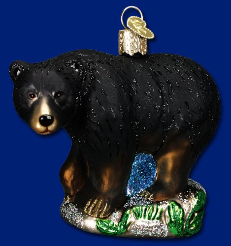 Old World Christmas Black Bear Glass Blown (Bear Ornament)