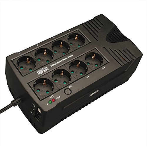 (Tripp Lite AVRX550UD 550VA 300W UPS International Battery Back UP AVR 230V RJ11 USB SCHUKO Input/OU)