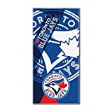 "MLB Toronto Blue Jays ""Puzzle"" Beach Towel, 34""x72"", Royal Blue"