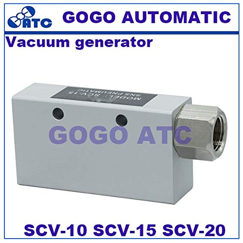 Ochoos Vacuum Generator SCV-10 RC 1/8'' SCV-15 RC 1/4'' SCV-20 RC 3/8'' Female Thread SCV Series SMC Type Vacuum Ejector - (Color: SCV20)