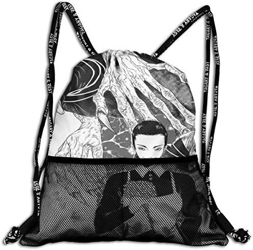 約束のネバーランド (9) 人気 ナップサック 通勤 通学 マルチ バッグ 旅行 多機能 ナップサック 男女兼用 スイミングバッグ 巾着袋 登山 防水 軽量 バンドルポケッ