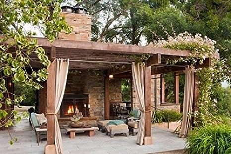 Cortina opaca sin forro para interiores y exteriores, termal ...