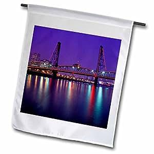 Danita Delimont - Bridges - Hawthorne Bridge, Willamette River Portland, Oregon - US38 JMI0673 - Janis Miglavs - 18 x 27 inch Garden Flag (fl_93785_2)