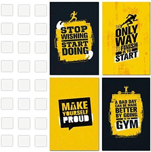 Amazon.com: Póster de gimnasio con citas motivacionales e ...