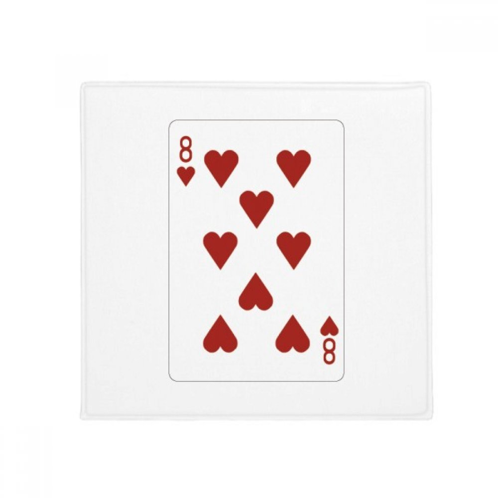 DIYthinker Heart 8 Playing Cards Pattern Anti-Slip Floor Pet Mat Square Home Kitchen Door 80Cm Gift
