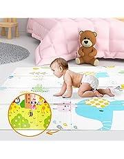 Lekmatta för bebisar 160x180x1cm XXL vändbar skumgolvsmatta – Bärbar lekmatta för småbarn - motorisk matta för sensorisk utvecklingLekmatta för bebisar 180x200x1,5cm XXL vändbar skumgolvsmatta – Bärbar lekmatta för småbarn - motorisk matta för sensorisk utveckling