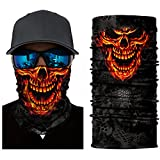 3D Headwear Face Mask - 2PCS Sports Headband,Magic Scarf,Balaclava, Bandana (3DSkull Mask-Red(1PC))