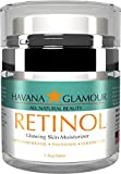 Havana Glamour – Anti Aging Pure RETINOL Moisturizer Cream. Best day and night cream for face and neck; with Hyaluronic Acid, Vitamin E, Panthenol and Coconut Oil. Reduces wrinkles and fine lines.