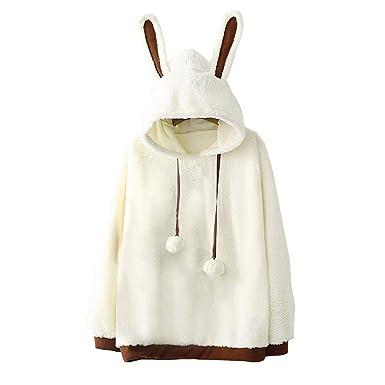 Teddy Plüsch Jacke in Damen Kapuzenpullover & Sweats