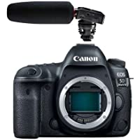 Canon EOS 5D Mark IV DSLR Body - With Tascam DR-10SG Camera-Mountable Audio Recorder with Shotgun Microphone