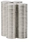 "BYKES Neodymium Super Strong Extremely Powerful Rare Earth Refrigerator Magnets 1/2"" X 1/16"" N42 - Set of 80"
