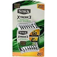 20 Count Schick Xtreme 3 Blade Razor with Vitamin E & Aloe