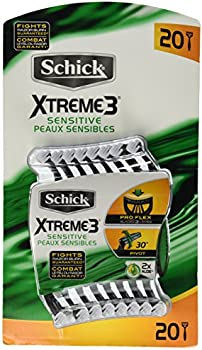 20 Count Schick Xtreme 3 Blade Razor