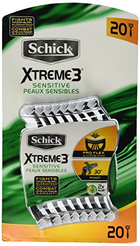 20-schick-xtreme-3-blade-sensitive-razor-with-vitamin-e-aloe