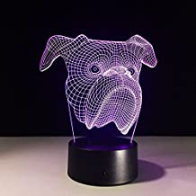 NOCHX 3D Night Light Touch Table Lamp, 7 Color Changing Optical Illusion Lights with Acrylic Flat & ABS Base & USB Cable for Holiday Gifts, Kids Toys Decoration Christmas Valentines Gift