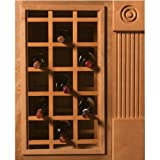 Omega National Sonoma Series Cabinet Mount Wine Lattice, 24 Bottle Capacity, 24 inch W x 30 inch H, Hickory Unfinished Wood