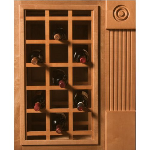 Omega National Sonoma Series Cabinet Mount Wine Lattice, 24 Bottle Capacity, 24 inch W x 30 inch H, Cherry Unfinished Wood
