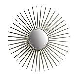 36' Silver Sunray Wall Accent Mirror