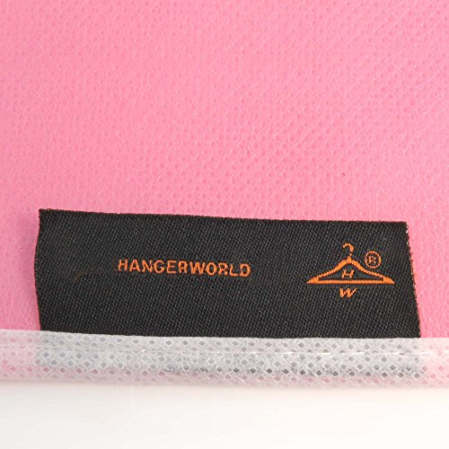 "Hangerworld Pack of 3 Breathable Baby & Toddler Clothes Covers Garment Bags- Ideal Protection for Christening Gowns - In Soft Pink with White Trim - 30"" Length X 18"" Width"