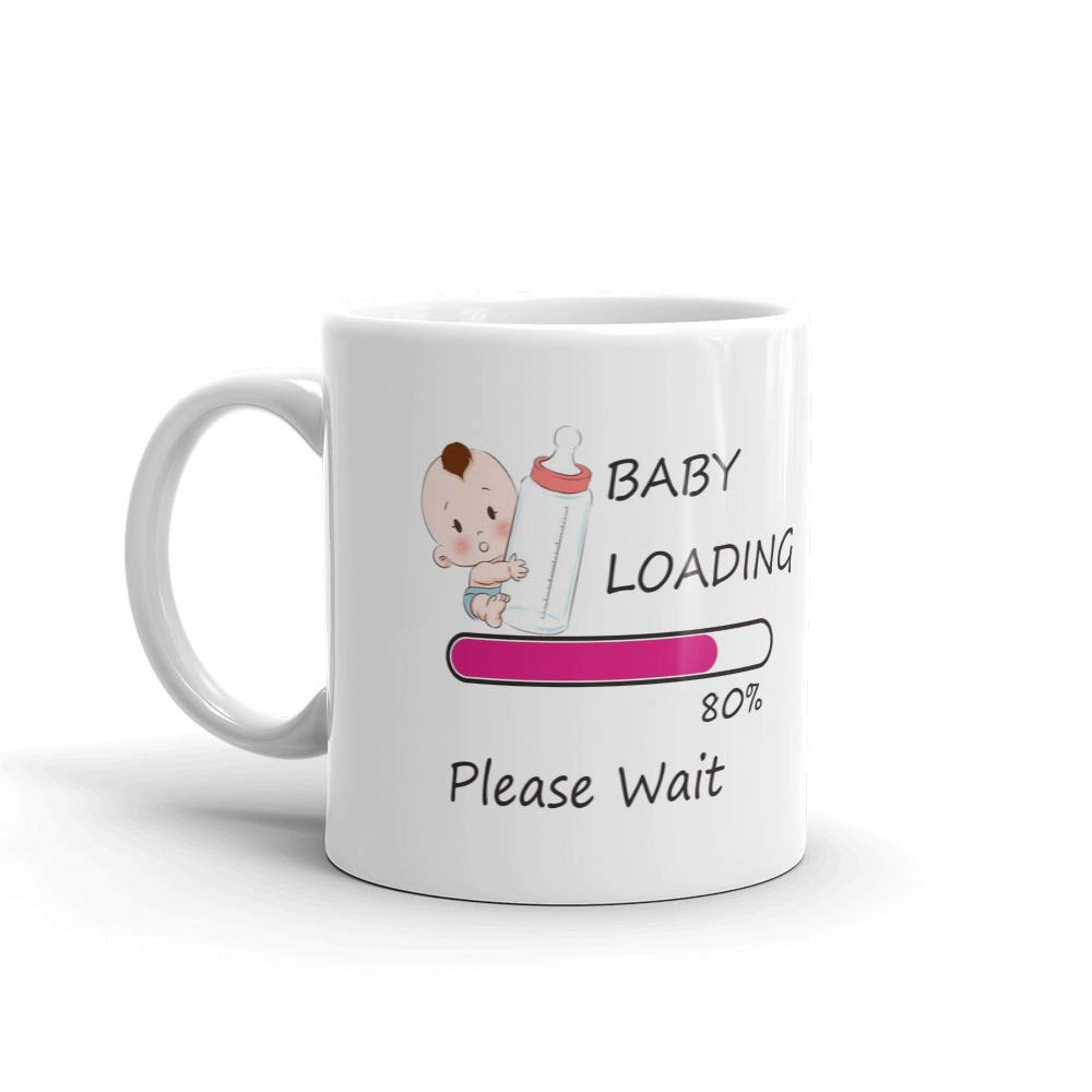 Buy family shoping ceramic baby loading please wait printed coffee tea mug for pregnancy gift 320ml white online at low prices in india amazon in