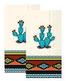 Ideal Home Range 3-Ply Paper Southwest Craze, 16 Count Guest Towel Napkins Set of 2