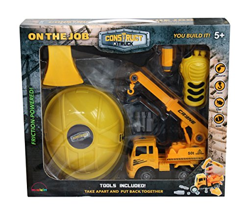 Construct a truck-on The Job set-crane。Take the Truck Apart & Put It Back Together + Friction Powered +追加のRole Playingツール( Like 3-toys-in-1 。 )Awesome Award Winnerに設定Encourage創造性。