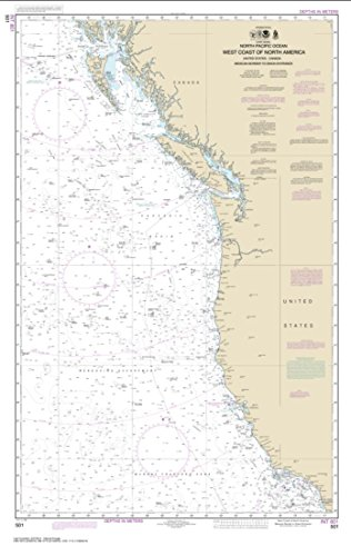 NOAA Chart 501-North Pacific Ocean West Coast of North America Mexican Border to Dixon Entrance- Water-Resistant - by East View Geospatial