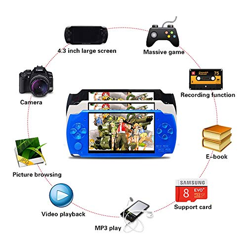Handheld Game Console with Built in Games,Portable Video Games for Kids Retro,Built-In 500 Classic Video Games Player Gameboy with 4.3'' 8GB System for Birthday Presents Kids Children Adults (Black) by Womdee (Image #8)