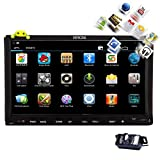 EinCar Car Autoradio 2 Din Headunit In Dash Stereo android 4.2 Bluetooth WiFi GPS Navigation 7 Inch Capacitive Touchscreen Car DVD/CD/MP4/MP3 Player Radio AM FM Video Audio Receiver+ Backup Camera