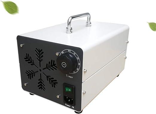 Steeler 5000 MG/h Generador de ozono casero Temporizador portátil Purificador de Aire Comercial O3 Resistente a ...